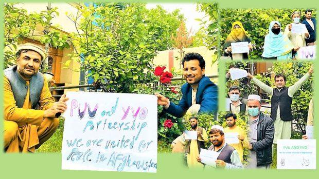 現地パートナー団体YVOからの平和連帯メッセージの写真